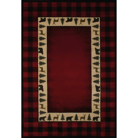United Weavers Big Timber Buffalo Plaid Red Woven