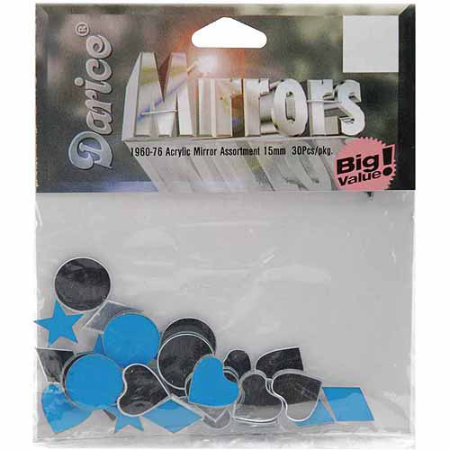 Acrylic Mirror Shapes, 15mm, 30/Pkg