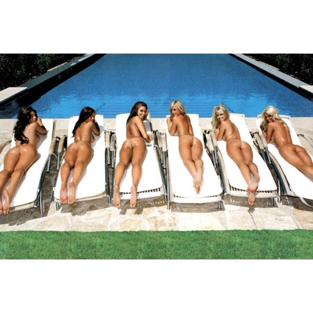 - Sunbed Girls Sexy Pool Summertime Photography Print Poster 24 36..., By Beyond The Wall Ship from US