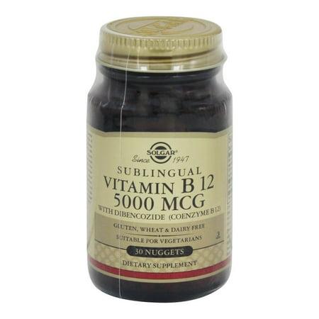 Solgar - Megasorb vitamine B12 Avec Dibencozide (B Coenzyme 12) 5000 mcg. - 30 Nugget (s)