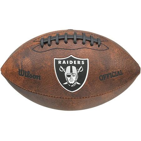Riddell Oakland Raiders Signature Football - Wilson NFL 9