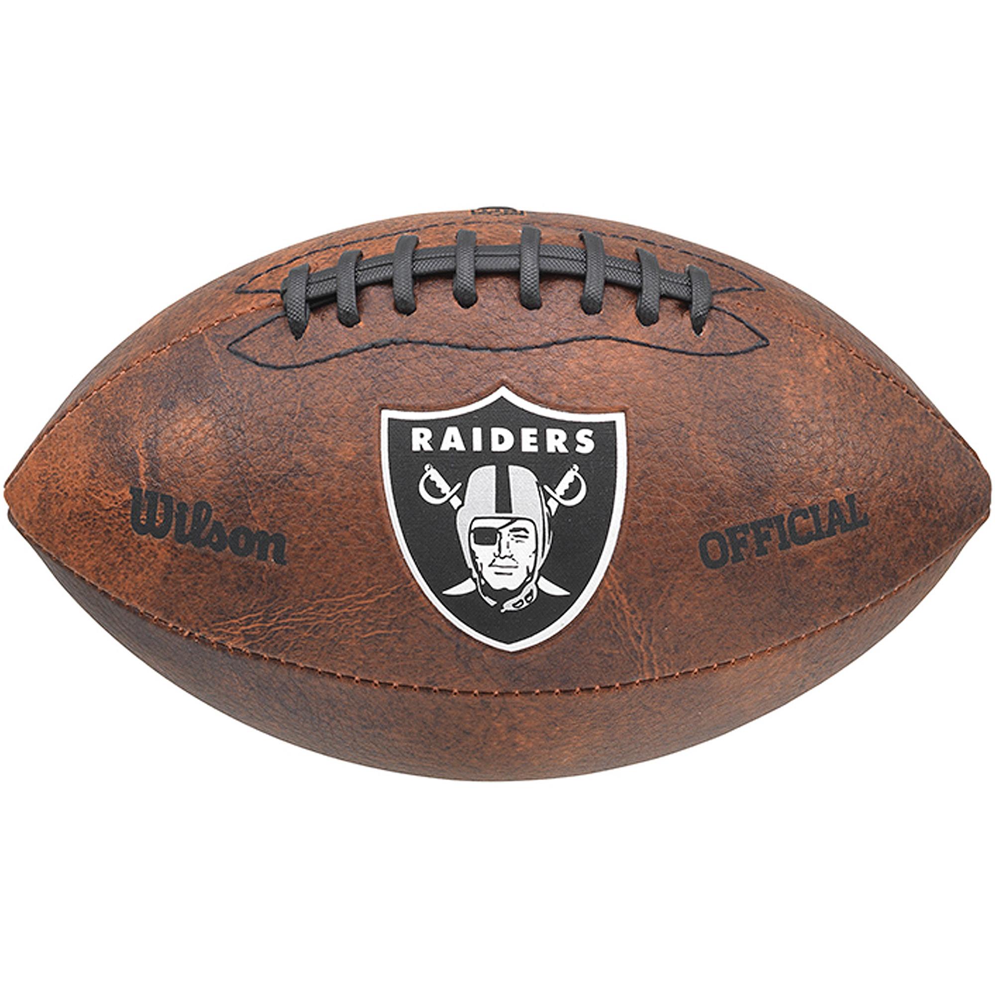 "Wilson NFL 9"" Color Throwback Football, Oakland Raiders"