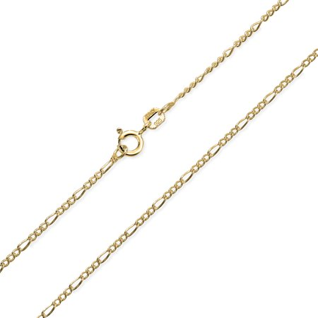 Simple 40 Gauge 925 Sterling Silver Figaro Chain Necklace For Men For Women For Teen Made In Italy 14 16 18 20 24 Inch