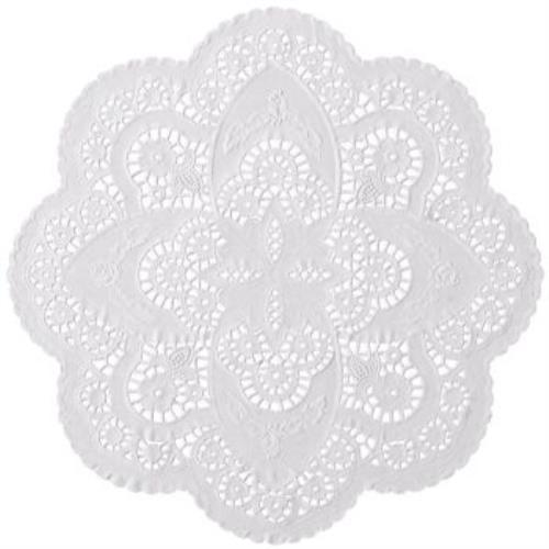 French Lace Paper 12-inch Doilies, White