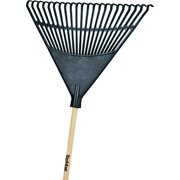 Landscapers Select Lawn/Leaf Rake, 48 In L Hardwood, 22 In L, 22 Poly Tine