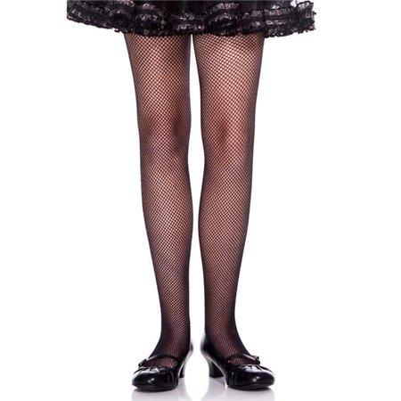 Music Legs 290-WHITE-L Girls Fishnet Pantyhose, White - Large - image 1 of 1