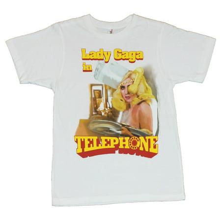 Lady Gaga Mens T-Shirt  - Gaga In Telephone (Phone Tee)