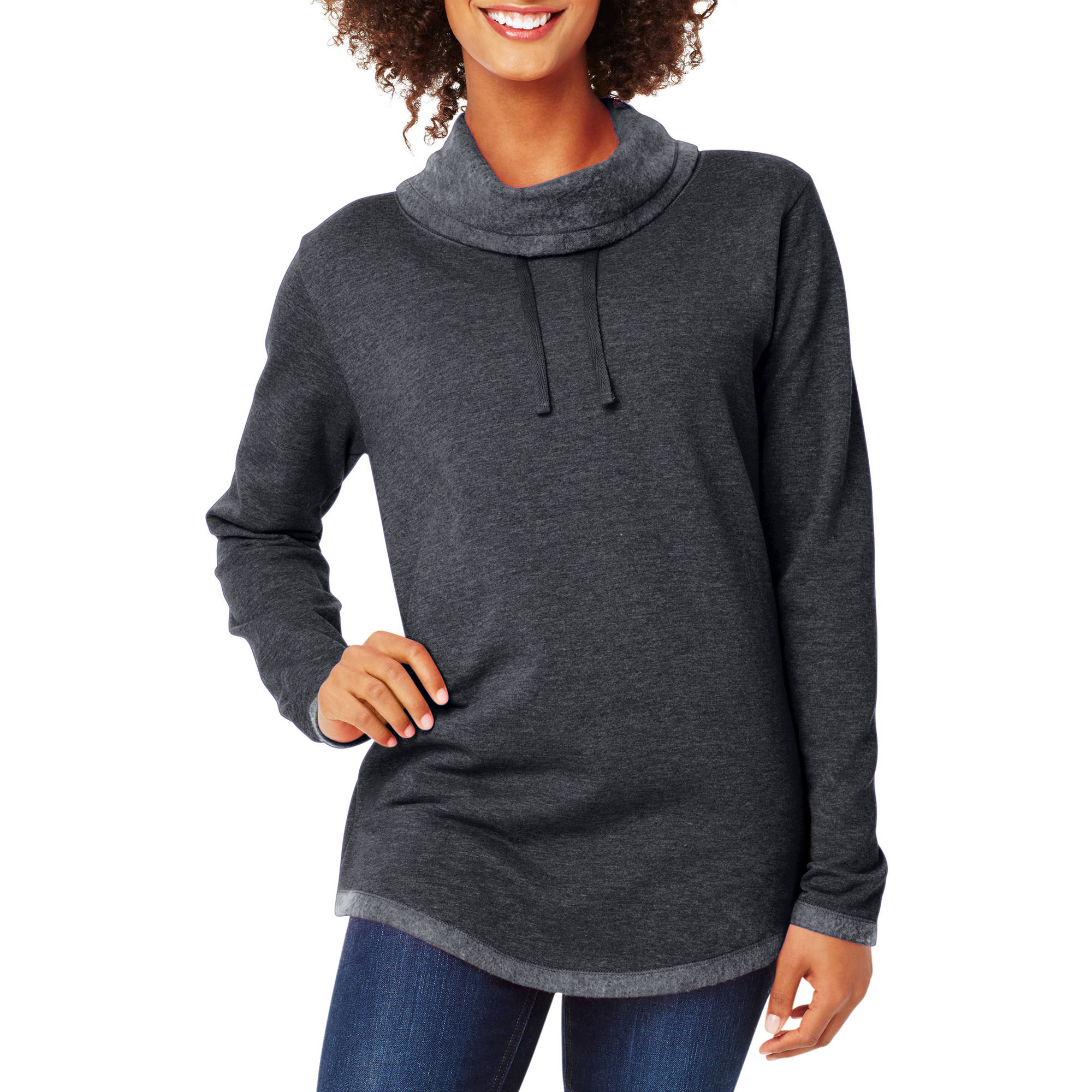 Hanes Women's Lightweight Fleece Cowl Neck