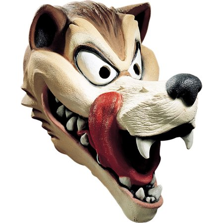 Morris Costumes Oversized Creepy Wolf Cosplay Animals Latex Head Mask, Style DG10529