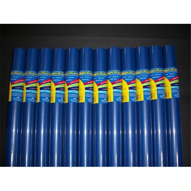 RiteCo Raydiant 80081 Riteco Raydiant Fade Resistant Art Rolls Dark Blue 24 In. X 12 Ft. 12 Pack