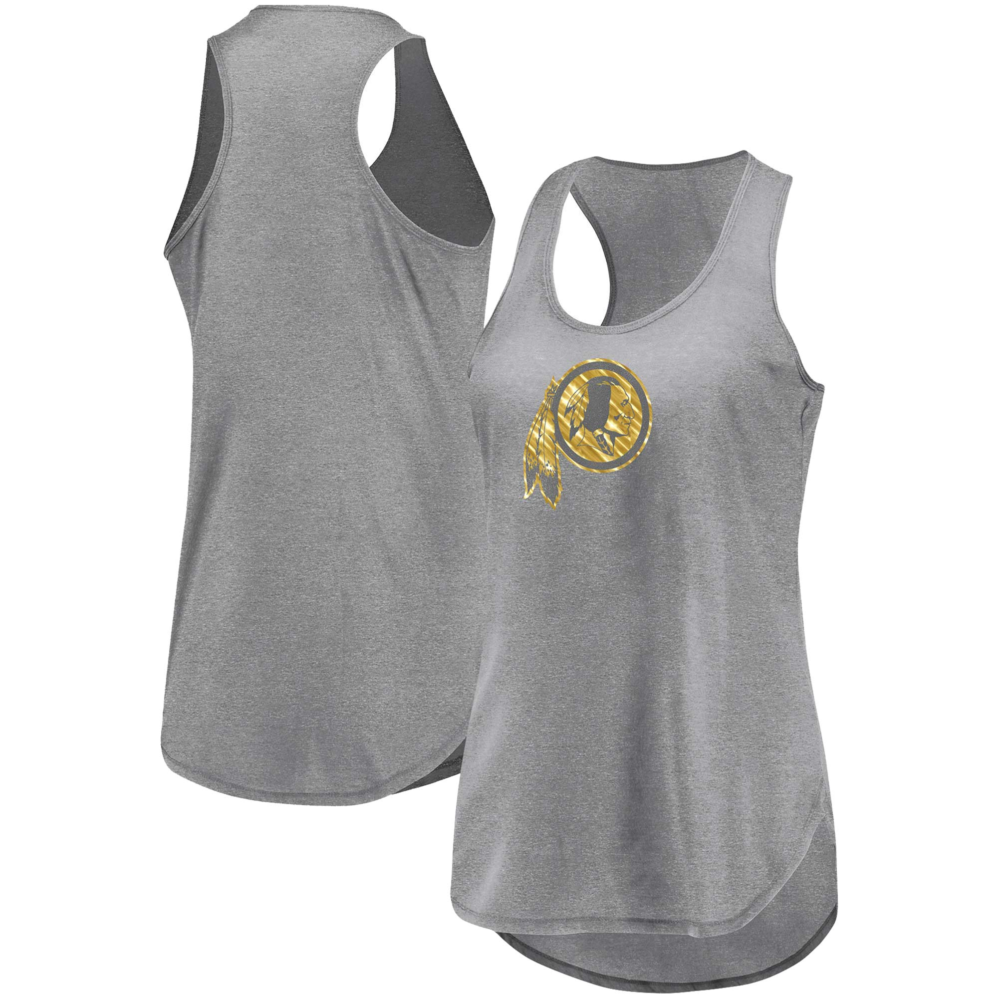 Washington Redskins Majestic Women's We're On Top Racerback Tank Top - Heathered Gray