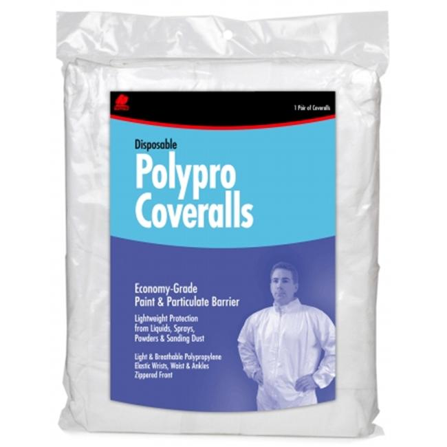 Buffalo Industries Extra Large White Disposable Polypro Coveralls  68517