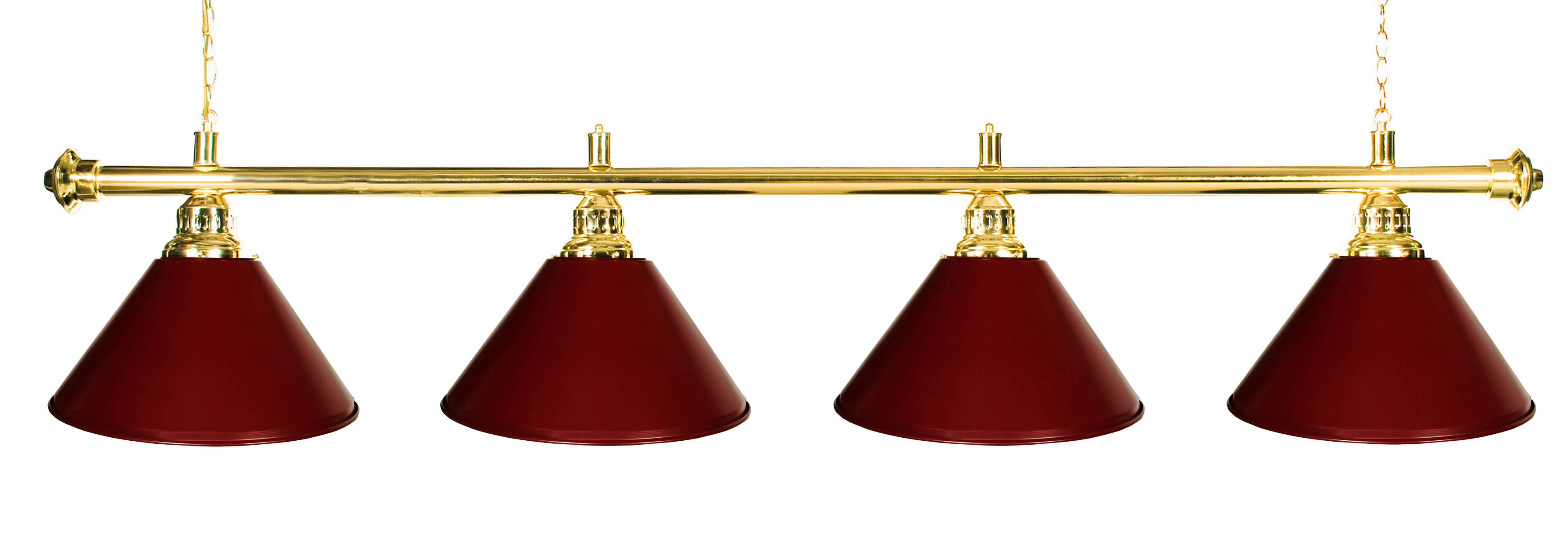 "72"" Pool Table Light Pool Table Light With Metal Burgundy Shades for 9' Table by"