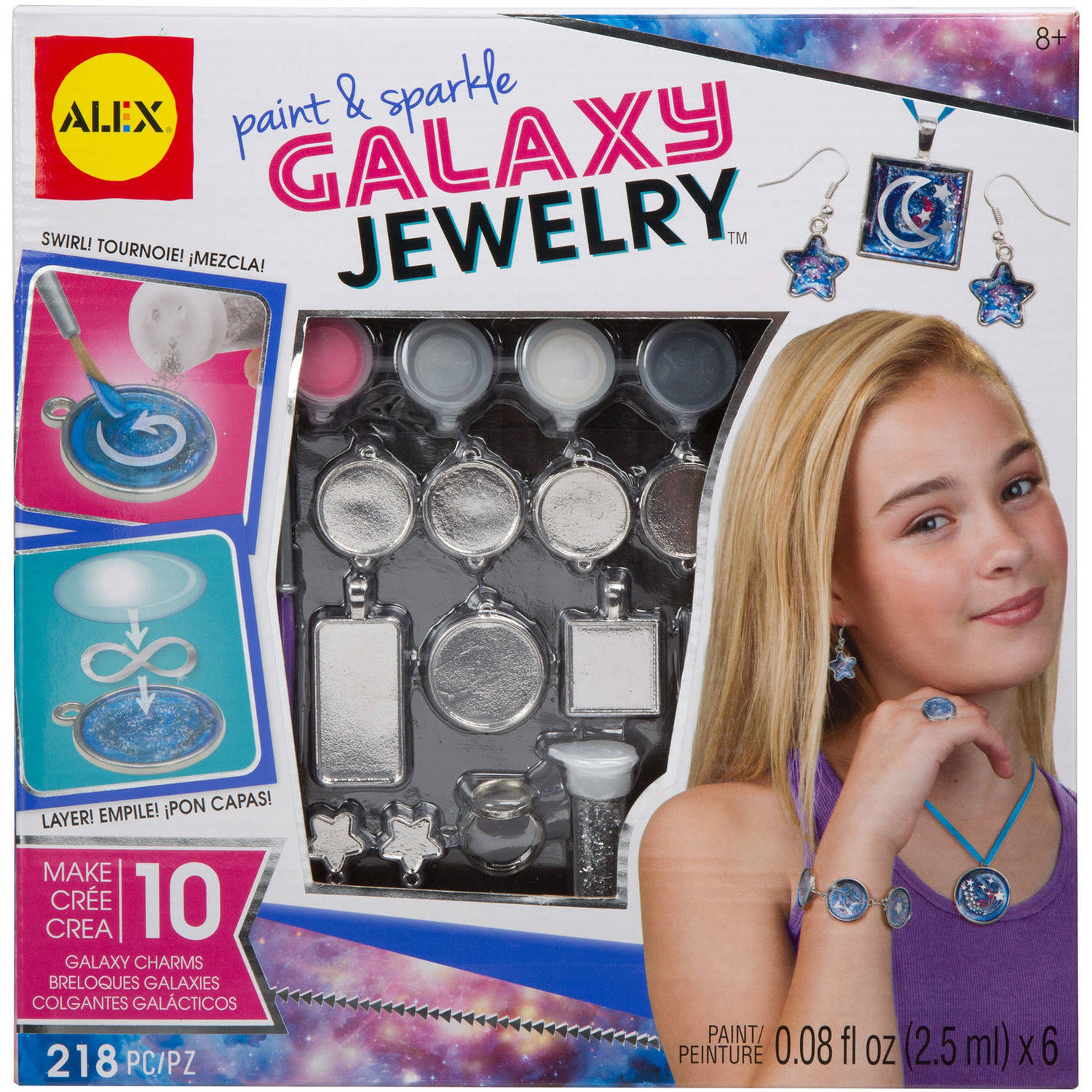 ALEX Toys Do-it-Yourself Wear Paint and Sparkle Galaxy Jewelry