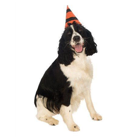 Warlock Hats (Orange Black Witch Warlock Hat For Pet Dog )