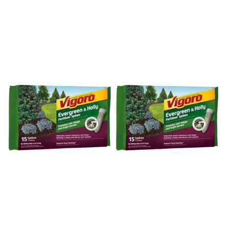 Vigoro (2-Pack) 15 Spikes Per Pack 4.2 lb. Evergreen and Holly Fertilizer Spikes Evergreen Tree Fertilizer Spikes