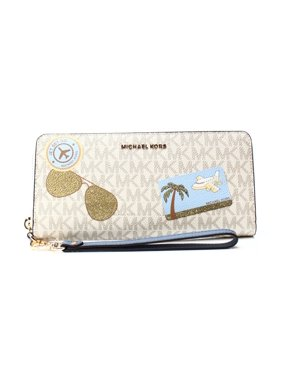 e99f5a55b8ba Product Image Michael Kors NEW White Ivory Illustrated Fly Away Continental  Wristlet