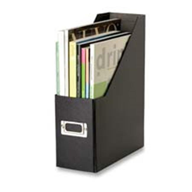 Ideastream Products IDESNS01565 Regular Magazine File- Metal Label Hldr- 4-. 25inchx9-. 75inchx13inch- BK