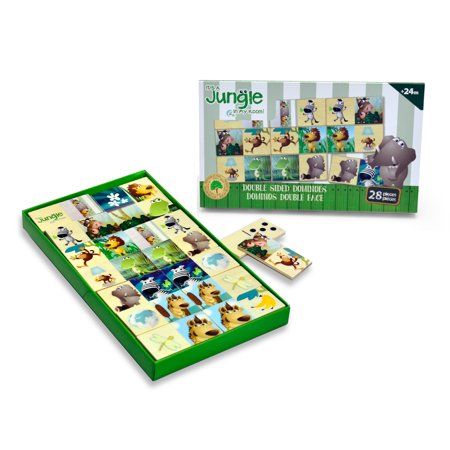 Boikido - It's a Jungle in My Room Wooden Double Sided Dominos, 28 (Double Sided Crayons)