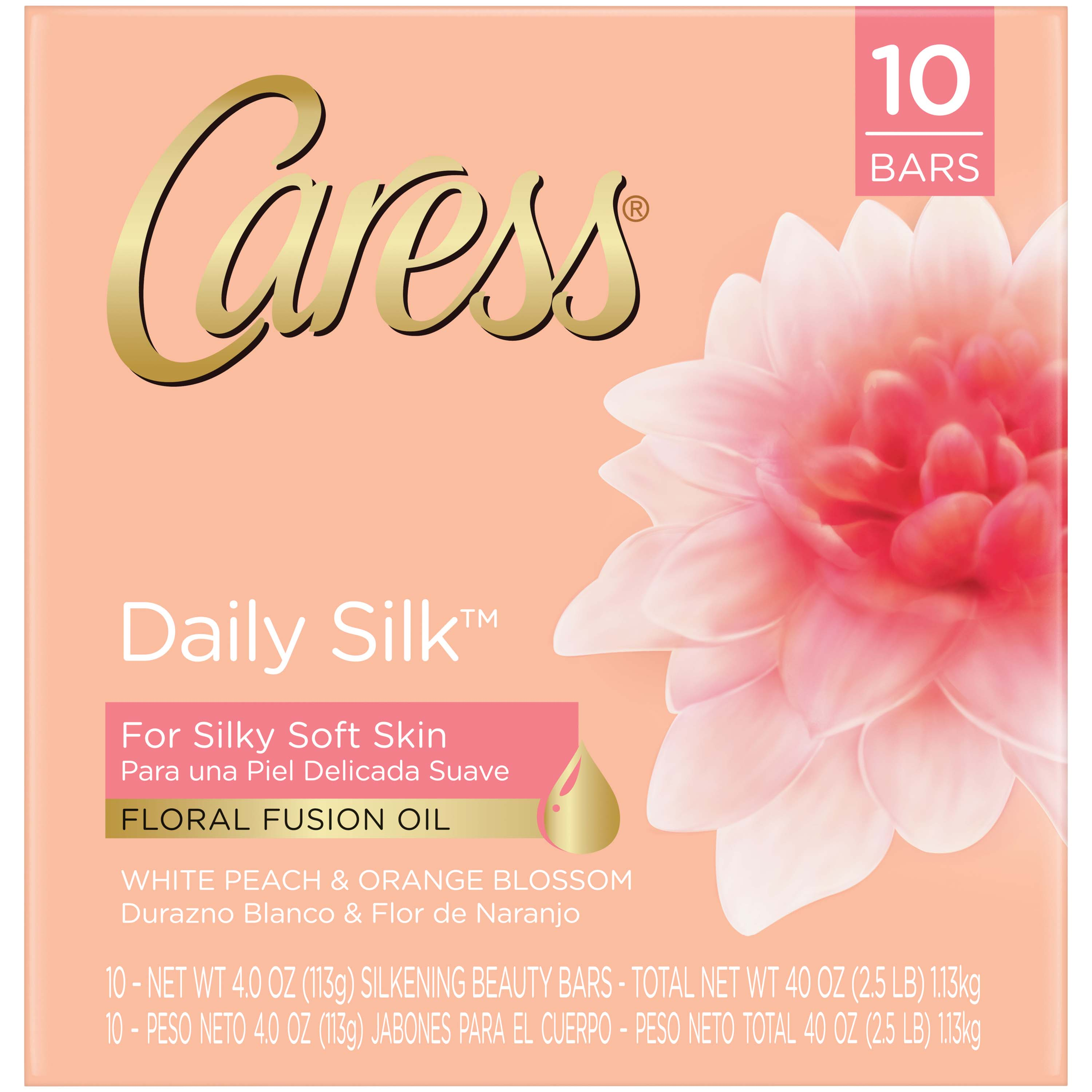 Caress Daily Silk, Bar Soap, 4 oz, 10 Bar