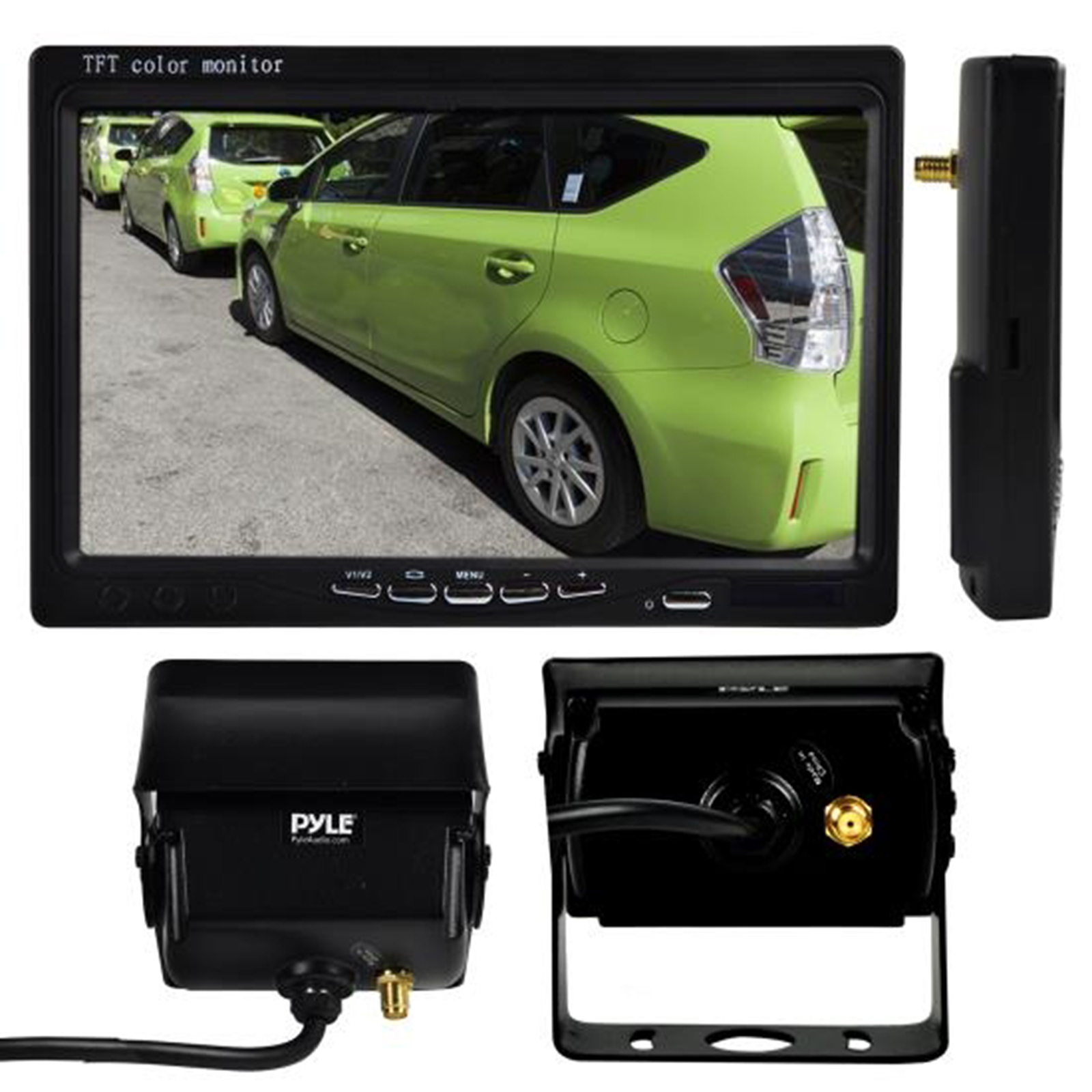 "cord free Weatherproof Rearview Backup Camera & Monitor Video System, Commercial Grade Night Vis Camera, 7"" Display, Dual DC 12-24V for Bus, Truck, Trailer, Van"