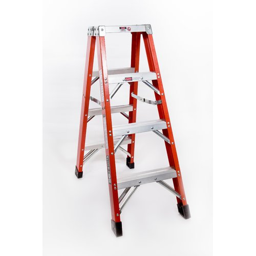 Michigan Ladder 4 ft Fiberglass Step Ladder with 375 lb. Load Capacity