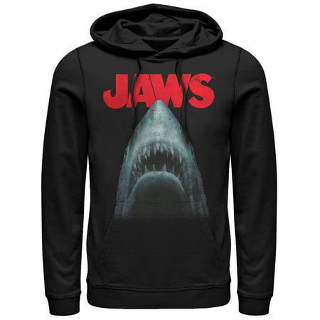 Jaws Men's Shark Teeth Poster Hoodie