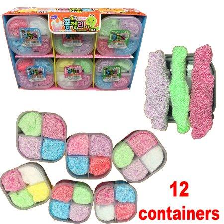 (12 Pack) Modeling Foam Beads Styrofoam Slime Putty Unicorn Favors Goo Kids Toys Clay