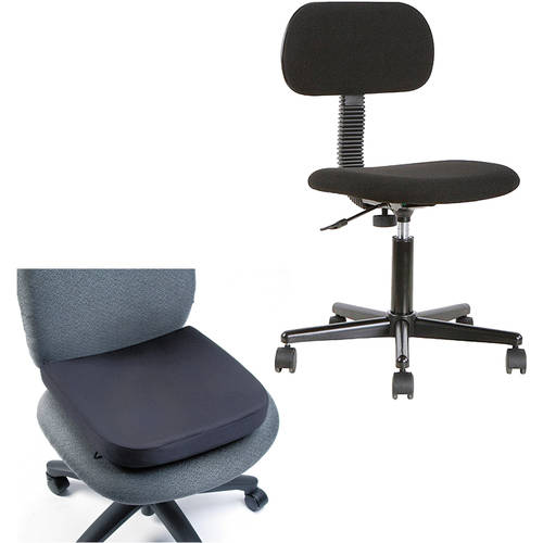Office Chair with Kensignton Memory Foam Seat/Backrest Bundle