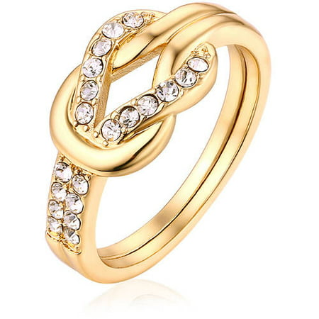 Swarovski Elements 18kt Gold-Tone Ring