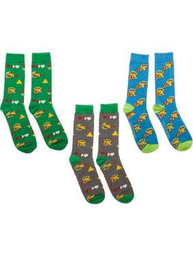 Legend of Zelda 3-Pack Crew Socks Set, 10-13