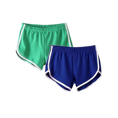 (2 Pack) Casual Lounge Shorts for Women Sport Gym Yoga Shorts Fitness Activewear Ladies Running Jogging Hot Pants Beach Shorts