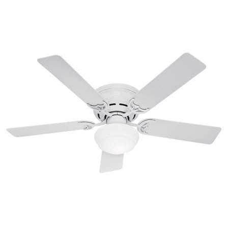 Hunter 52 low profile iii plus white ceiling fan with light hunter 52 low profile iii plus white ceiling fan with light mozeypictures Image collections