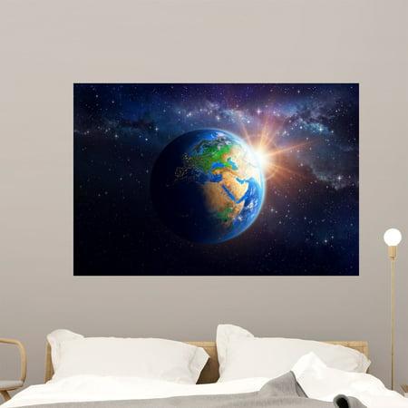 Planet Earth Outer Space Wall Mural Decal Sticker Wallmonkeys Peel Sti