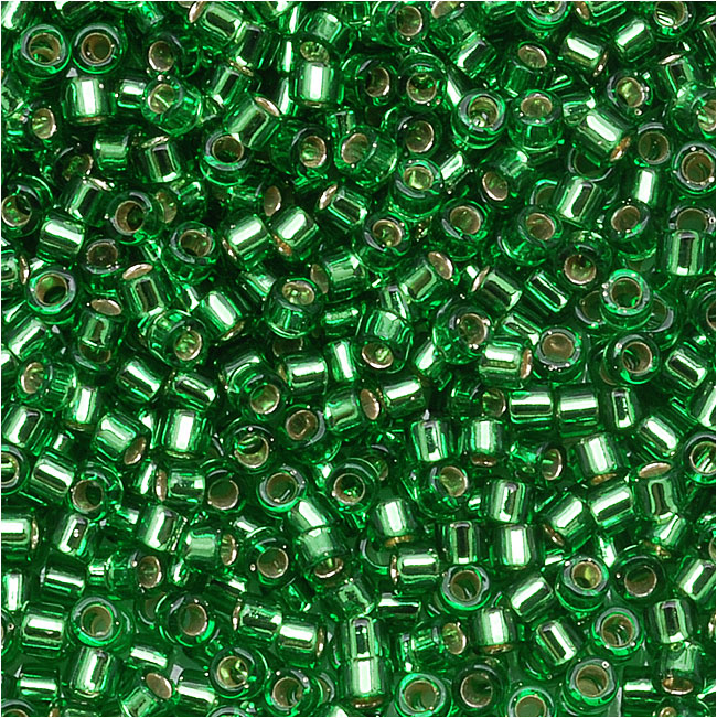 Miyuki Delica Seed Beads 15/0 Silver Lined Light Green DBS0046 4 Grams