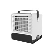 Mini Portable Air Conditioner Fan USB Desktop Air Cooler Office Dormitory Cooling Mobile Fan with LED Lights