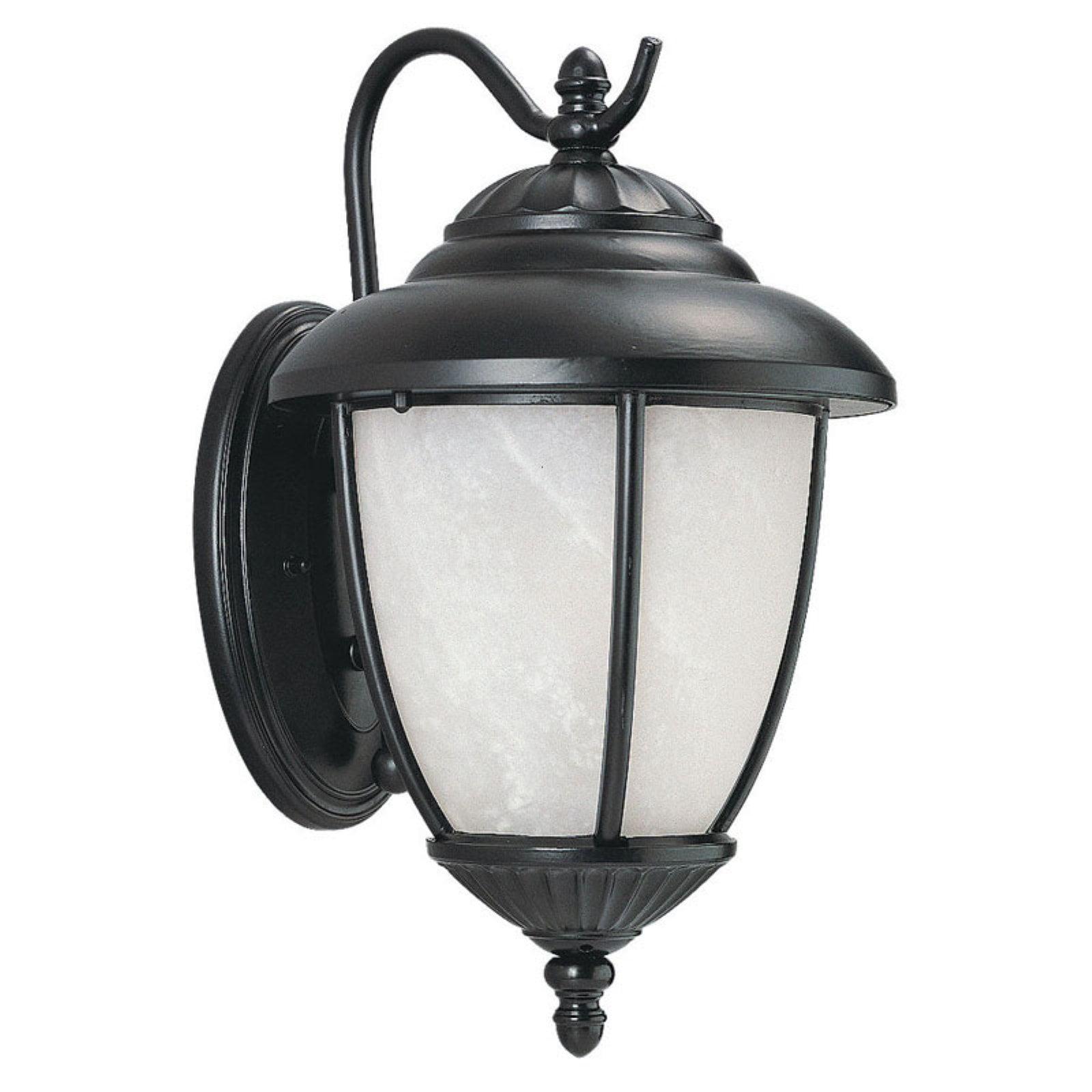 Sea Gull Yorktowne Outdoor Wall Lantern - 13.25H in. Forged Iron - ENERGY STAR