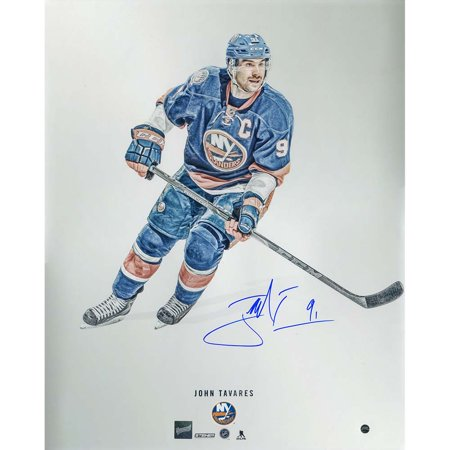 John Tavares Signed New York Islanders steiner Platinum' 16x20 Metallic Photo ( by