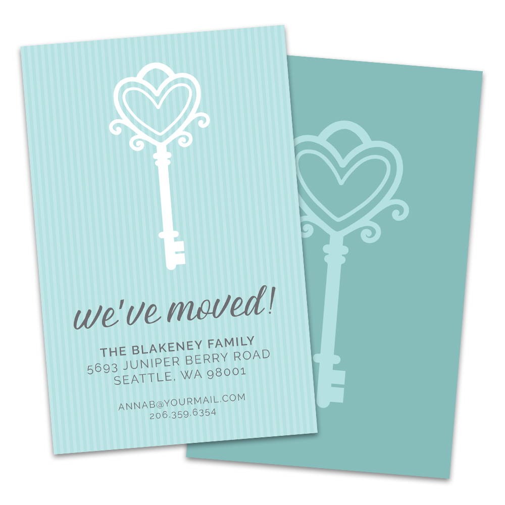 Personalized Vintage House Key Moving Announcement