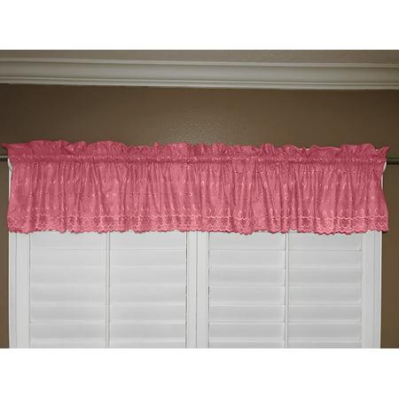 cotton eyelet window valance 58 wide