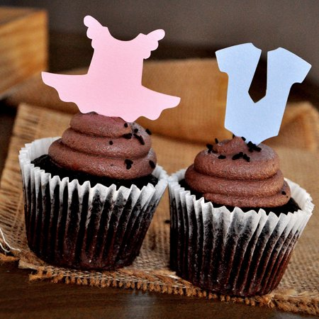 Ties or TuTus Gender Reveal Party Decorations. Ships in 1-3 Business Days. Ties or TuTus Cupcake Toppers 12CT.](Gender Reveal Party Decorations)