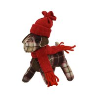 Holiday Time Ornament, Plaid Dog