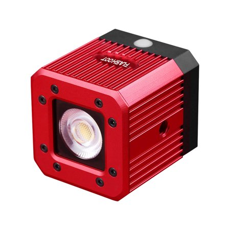 Waterproof Aluminum Alloy Cube LED Video Light 5600K Diving Fill Light Strobe Flash with 1/4 Inch Screw Hole for Canon Nikon Sony DSLR for GoPro Action Camera for Smartphone Drone Camcorder -8W 200LUX (Camera Lighting Kit Strobe)
