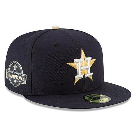 Houston Astros Cap (Houston Astros New Era 2018 Gold Program 59FIFTY Fitted Hat - Navy)