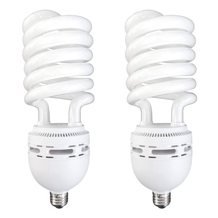 Luxrite LR20225 (2-Pack) 105-Watt High Wattage CFL Spiral Light Bulb, Equivalent To 400W Incandescent, Warm White 2700K, 6000 Lumens, E26 Standard Base