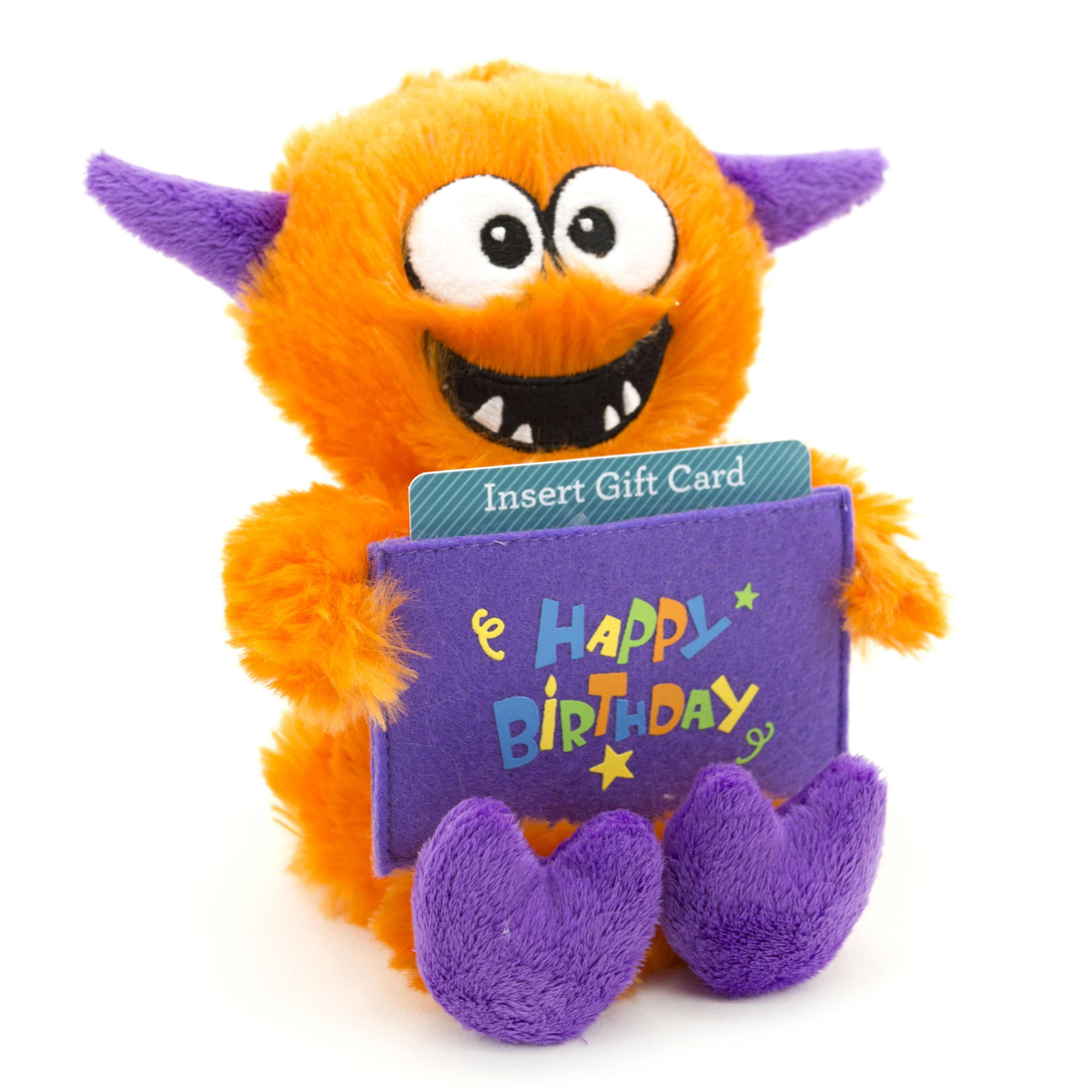 8-inch  Celebration Musical Plush Toy - Orange Monster