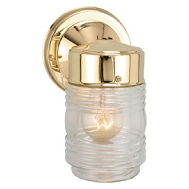 Jelly Jar Outdoor Downlight, 4.5 x 7.5 in. Polished Brass Finish