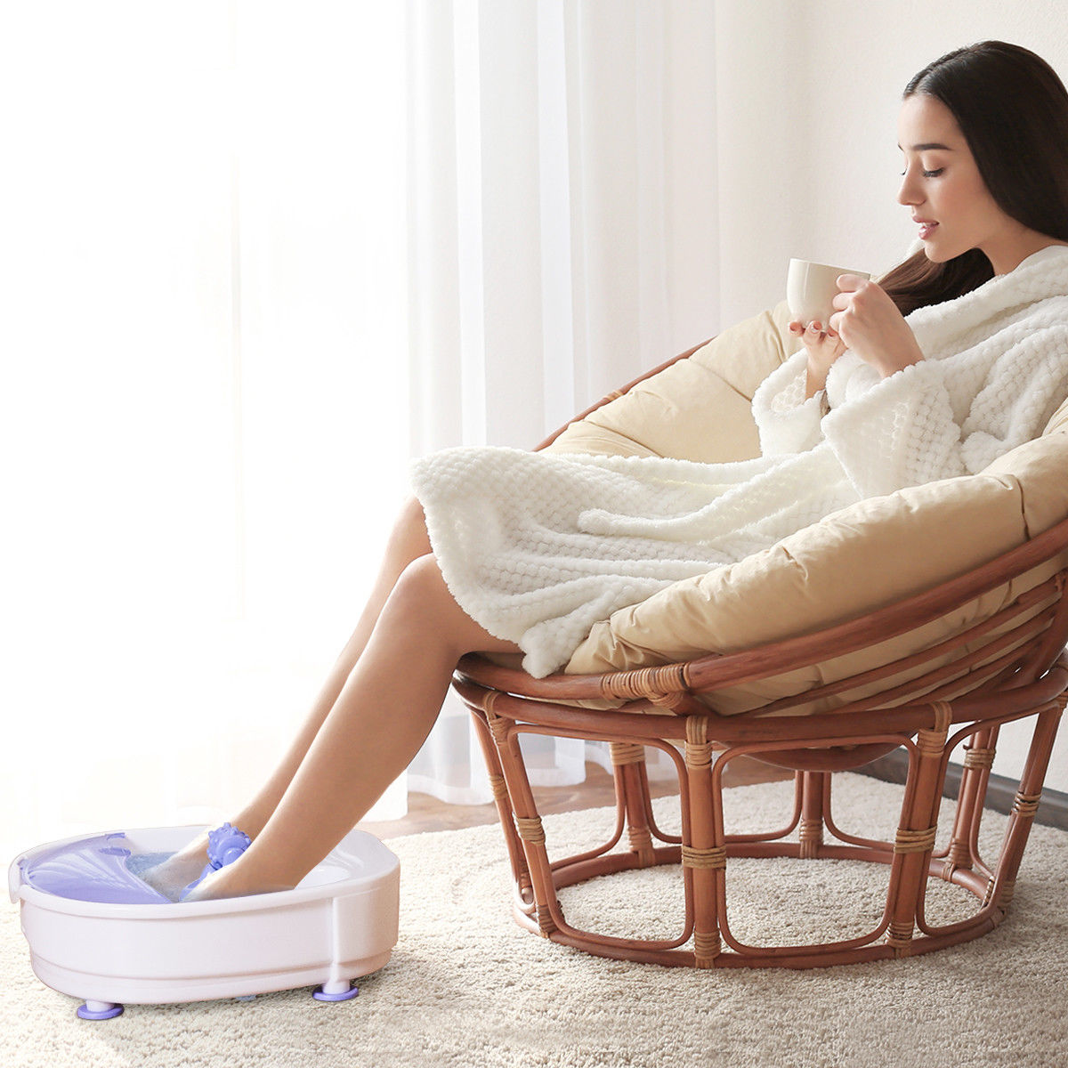 Costway Electrical Foot Basin Tub Point Massage Home Use Therapy Machine Health Heating - image 3 de 9