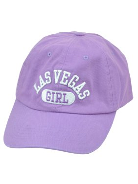Las Vegas Nevada Sin City Girl Lilac Womens Hat Cap Lights Arch Girl Relaxed LV