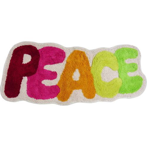 Peace Out Bath Rug